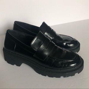 Zara Platform Treaded Sole Loafers